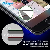 Wholesale Full cover tempered glass 3D screen protector for iPhone 6