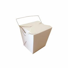 cheap take away square base paper noodle box with wire handle wholesale