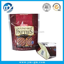 Stand up pouch with zipper & zipper stand up pouch for beef patties
