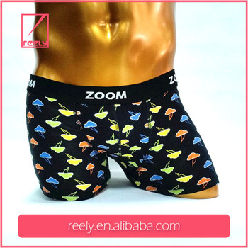 China professional OEM wholesale Printing soft boxer briefs for men
