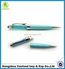 High quality real capacity OEM usb 2.0 crystal usb pen drive with logo