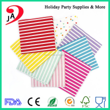 Different Size Colorful Paper Tissue Folding Airlaid Paper Napkin with Companies Logo