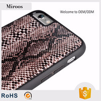 Hot products customized design Snakeskin leather cover for iphone 6/6s by professional manufacturer miroos
