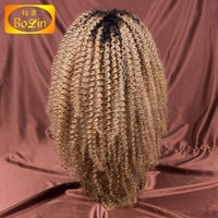 unprocessed remy virgin brazilian human hair 1b 27 ombre color full lace wig kinky curly