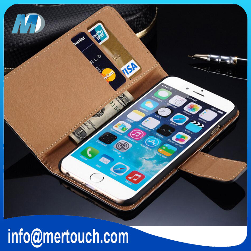 for iphone 6 case leather stand flip phone case with 2 business card holder photo bag leather case for iphone 6