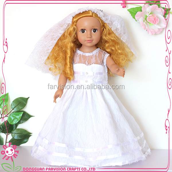 18 Inch Cute Beautiful Princess White Dress Bride Doll ...