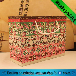 nice printed large unique style shopping paper bag/ custom amde paper shopping bag