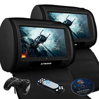 "HD908T: 2 x 9"" Headrest Touch Screen Car DVD Player"