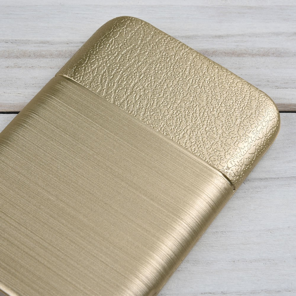 C&T Electroplate Gold Brushed Design TPU Back Cover For Samsung S8