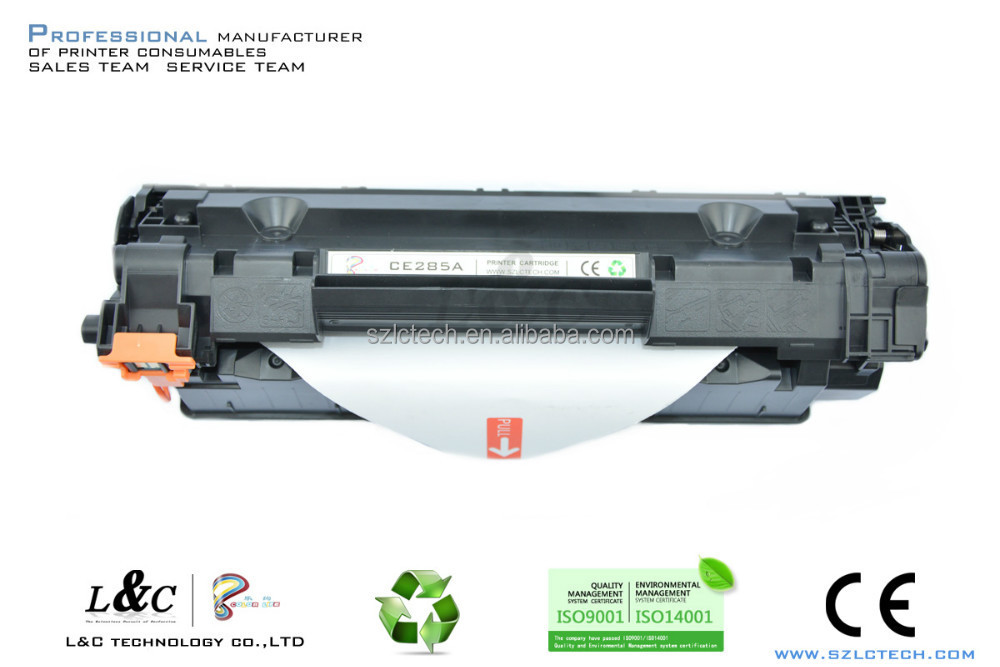 black compatible laser toner cartridge ce285a for hp 85a