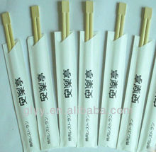 Bamboo Disposable Chopsticks With Half Paper Sleeve,noodle bowl chopsticks