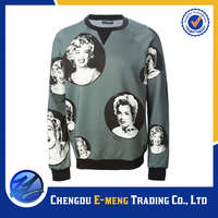 New design fleece sweat suit wholesale with photo printed