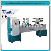 Tj1516 two spindle cnc lathe with driven tool automatic 3d wood carving engraving machine