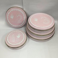 New baby handprint/footprint Soft Clay Imprints Keepsake Tin Box set