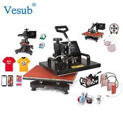 New Wholesale CE Automatic Combo Sublimation 8 In 1 Heat Press Transfer Machine