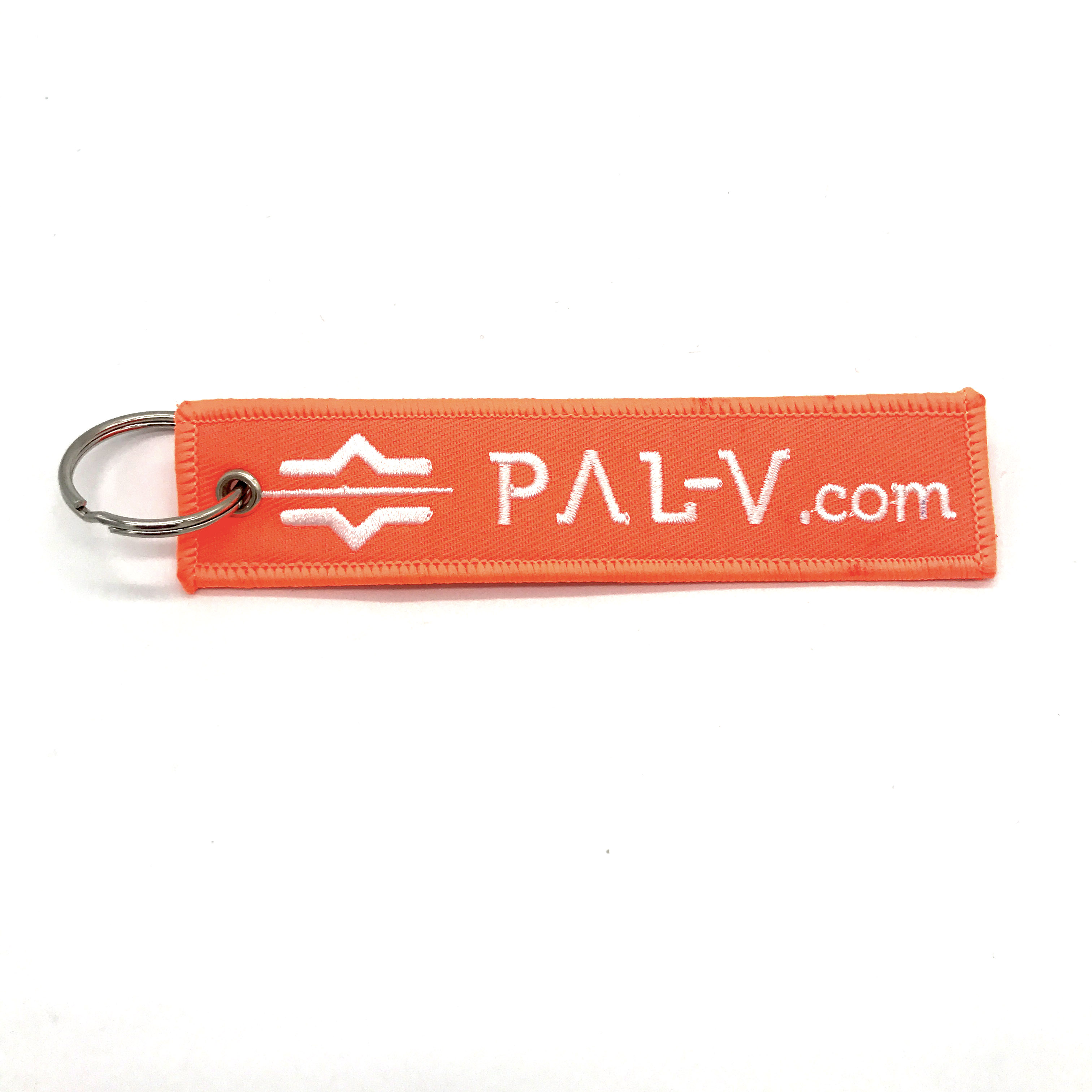 twill polyester fabric woven key chain jet tag for promotion marketing