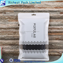 Wholesale cotton fabric garment bag clear plastic shirt packaging bags