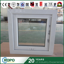 Plastic UPVC Waterproof Double Glazing Awning Windows For Bathroom