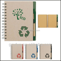 Promotion Gift Item Cheap Custom Recycled Note Book with Pen