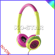 Colourful universal adjustable children over-ear earphone headphone headset fashion headphone 3.5mm for music