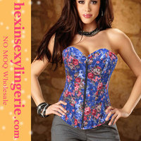 Hot sale women sex waist training images blue free corset patterns free