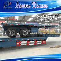 Hot sale 2 Axles 20ft cargo trailer Flatbed Container Truck Semi Trailer for sale(40ft flatbed trailer optional)