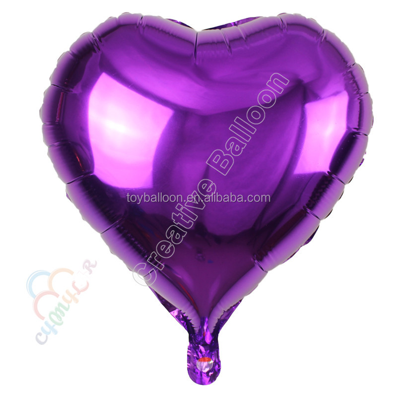 2017 cheap and good quality heart helium foil balloon aluminium foil balloon wedding decoration for promotion gift
