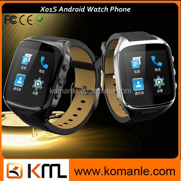 new arrival X01s video call watch phone , MTK 6572 dual core nano sim Android smart watch with heart rate