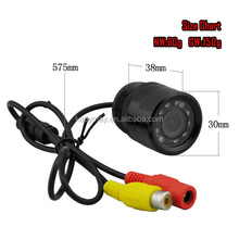 420TVL CMOS 120 Degree Wide Angle Drill Hole Car Rearview Camera with Mirror Image for Reversing (Backing-up), 3M IR Waterproof