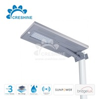 Outdoor lighting retrofit kit, integrated solar led street light all in one