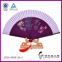 arts crafts cheap silk flower lace bamboo hand held fans