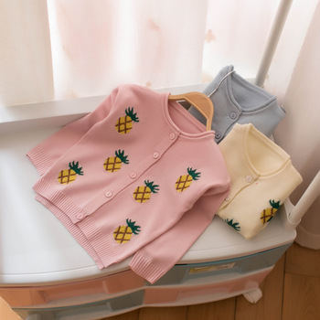 New 2019 spring autumn Baby Sweaters kids clothes children cotton knitted sweater coat baby girls sweater cardigan