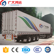 3 axles aluminum alloy edge flatbed container type vans box semi truck trailer for sale