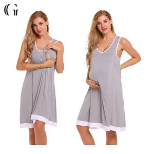 2d7b94db5fc Pregnancy Breastfeeding Nightgown Maternity Clothing Dresses
