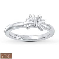 Popular Silver Trendy Jewelry Large Simply Elegant Bow Ring Fit All the Brands