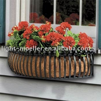 window box with coco liner