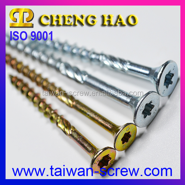 Manufacturer Flat Head Double Threaded Wood Screws