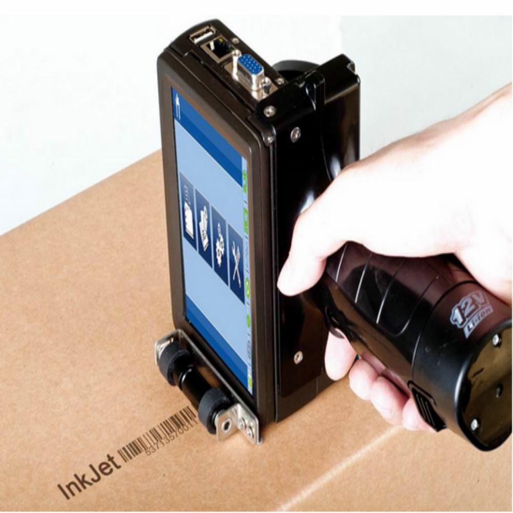 Handheld 2580 Inkjet QR Code Printer on Wood, Metal, Plastic, Carton by Digital Printing Batch Coding Machine