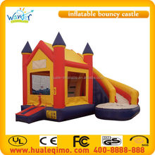 Outdoor inflatable house bouncer slide combo/Funny Kids colorful inflatable bouncy castle with slide