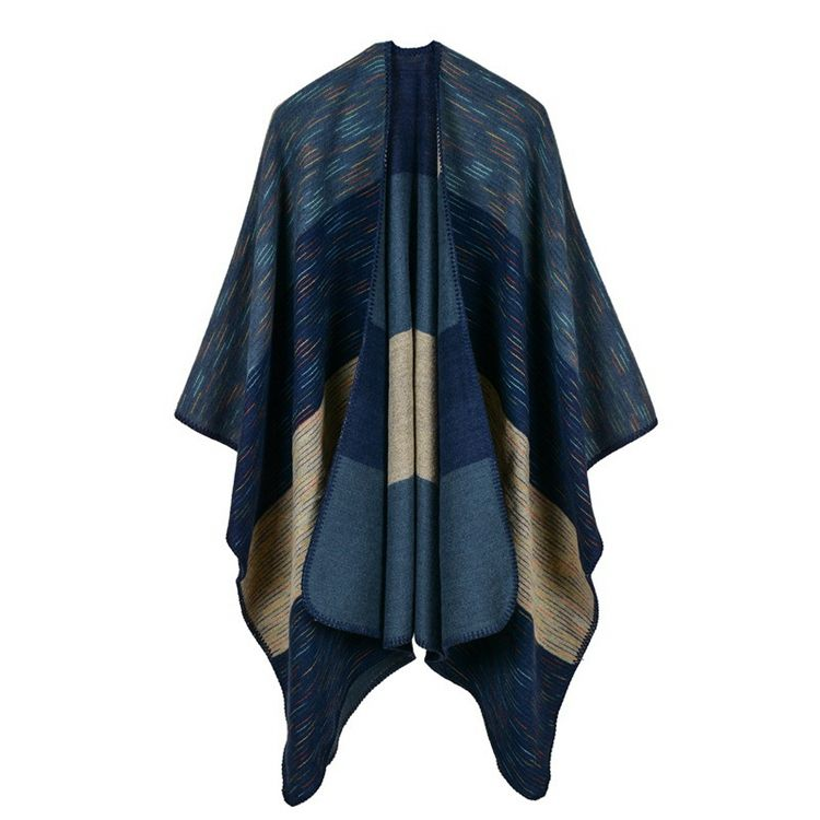 2015 fashion aztec poncho style plain cashmere scarf in mexico