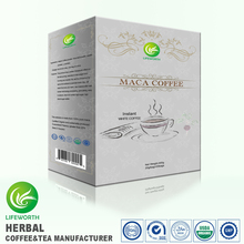Lifeworth private label China new formula instant Maca Extract White Coffee by high efficiency custom clearance