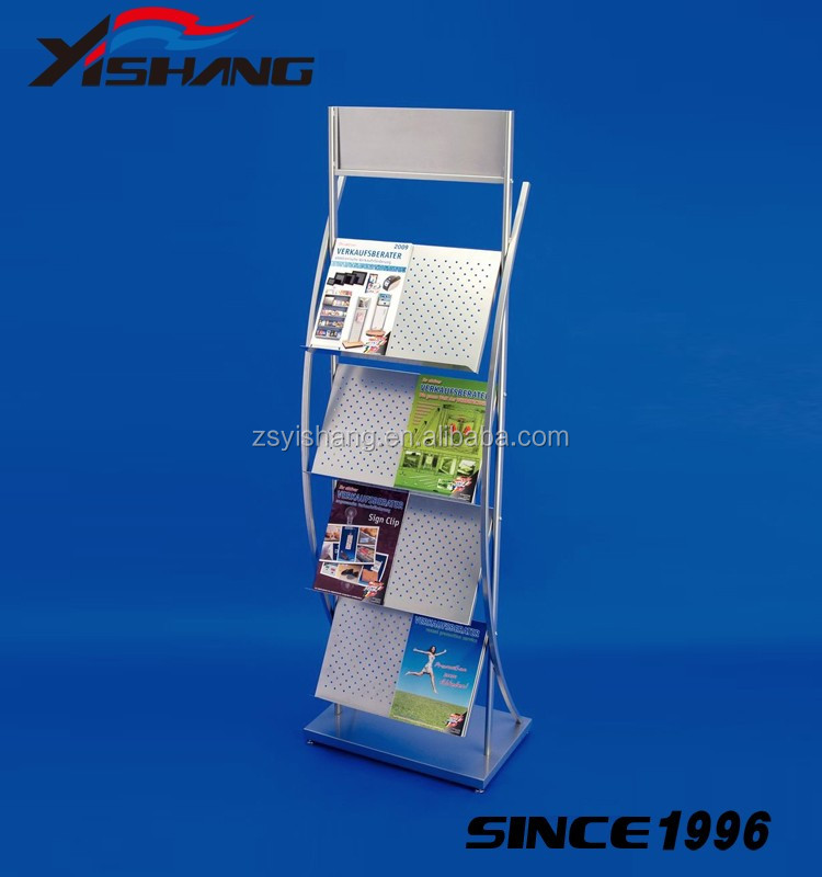 Popular magazine rack stand books Wooden book shelf