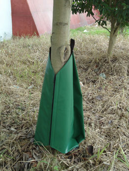 green PVC TARPAULIN tree bag