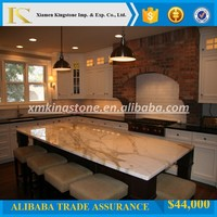 good quality calacatta white marble kitchen countertop