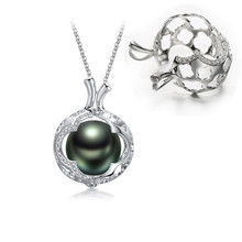 925 sterling silver design handmade pearl cage pendant
