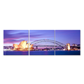 Wholesale Canvas Artwork Sydney Harbour Picture Canvas Prints Beautiful City Nightscape Canvas Art for Home Decoration 3 Panel