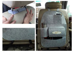 Factory price felt kids car seat organizer