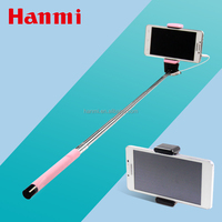 trending hot product mini wired folding selfie stick telescopic monopod