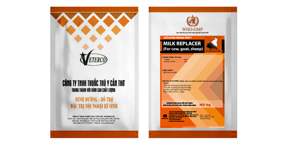 MILK REPLACER (For cow, goat, sheep) - Veterinary Milk Replacer
