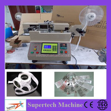 Auto polyester logo label cutter, Digital stain label laser cutting machine